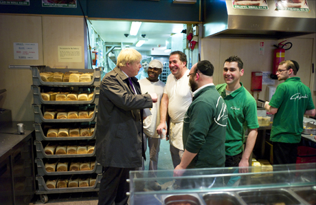 Boris Johnson in Stamford Hill