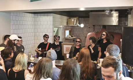 Topping idea: Macaulay Culkin plays with his band Pizza Underground at