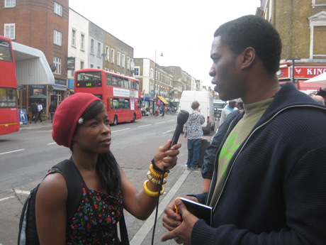 Ena Miller talks to Hackney residents about the riots