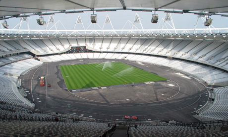 Olympic Stadium new turf