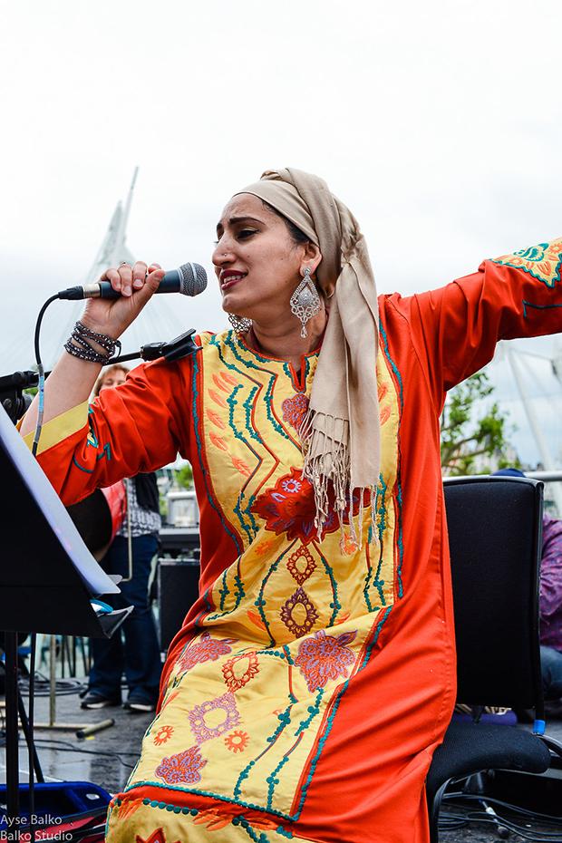 Sarah Yaseen of Rafiki Jazz. Photograph: Ayse Balko