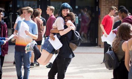 Students at Stoke Newington School celebrate their GCSEs