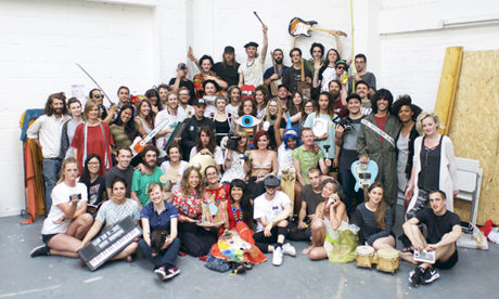 Artists and residents from Vittoria Wharf