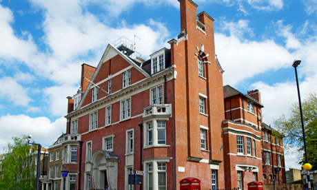 The former Hackney Central Police Station, before it closed last July.