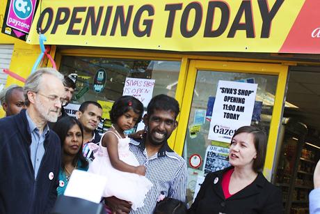 Siva's shop re-opens